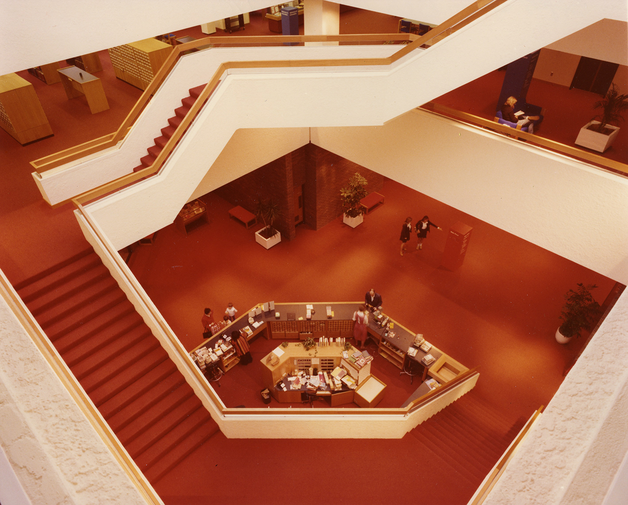Interior shot of the Atrium's staircase