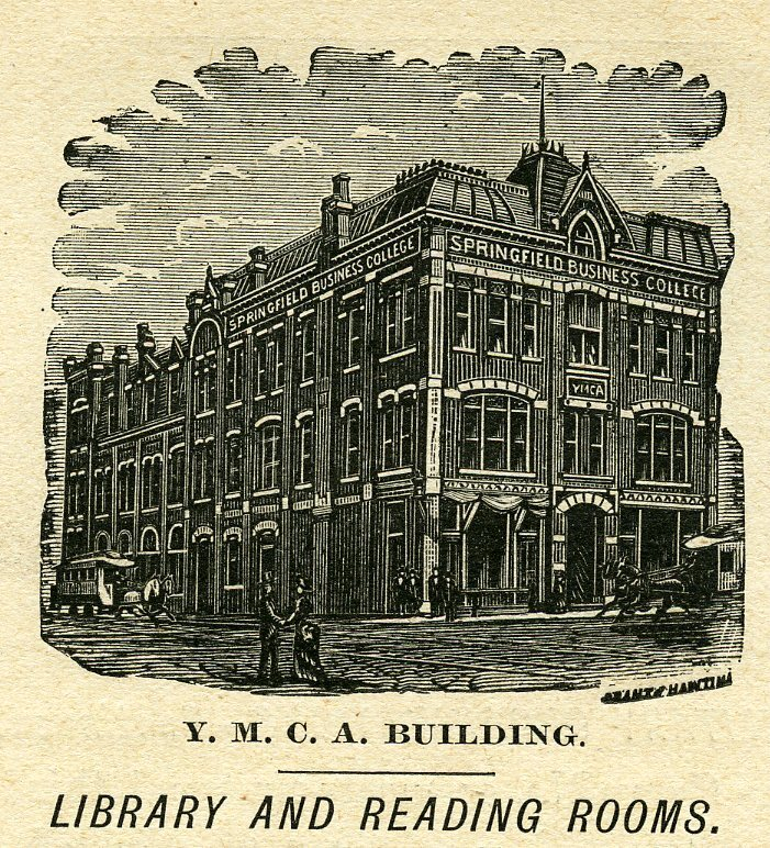 YMCA Building Library and Reading Rooms: the Lincoln Library in the newspaper in 1891