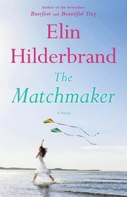 The Matchmaker book cover (a woman in a white dress running along the beach, flying a kite)