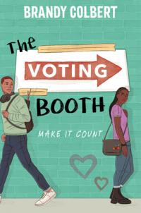 The Voting Booth book cover (two teenagers standing in front of a painted brick wall, looking back over their shoulders at each other)