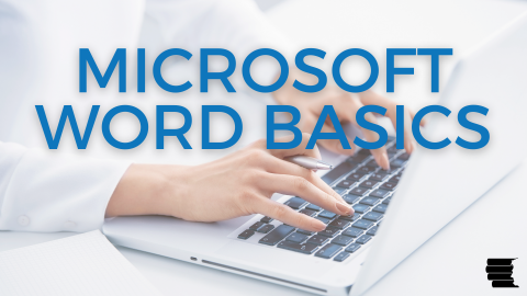 microsoft word basics_person typing on laptop